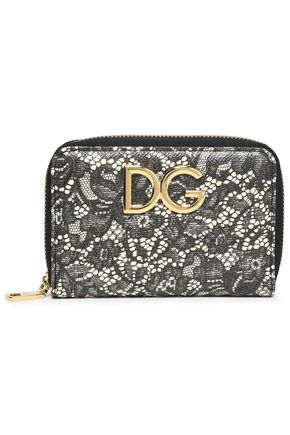 DOLCE & GABBANA Logo-embellished printed textured-leather wallet