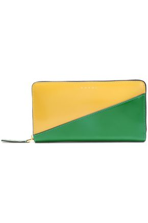 MARNI Two-tone patent-leather continental wallet