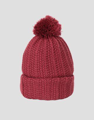 Scuderia Ferrari Online Store - Puma Scuderia Ferrari knit beanie with pompom - Beanie Hats