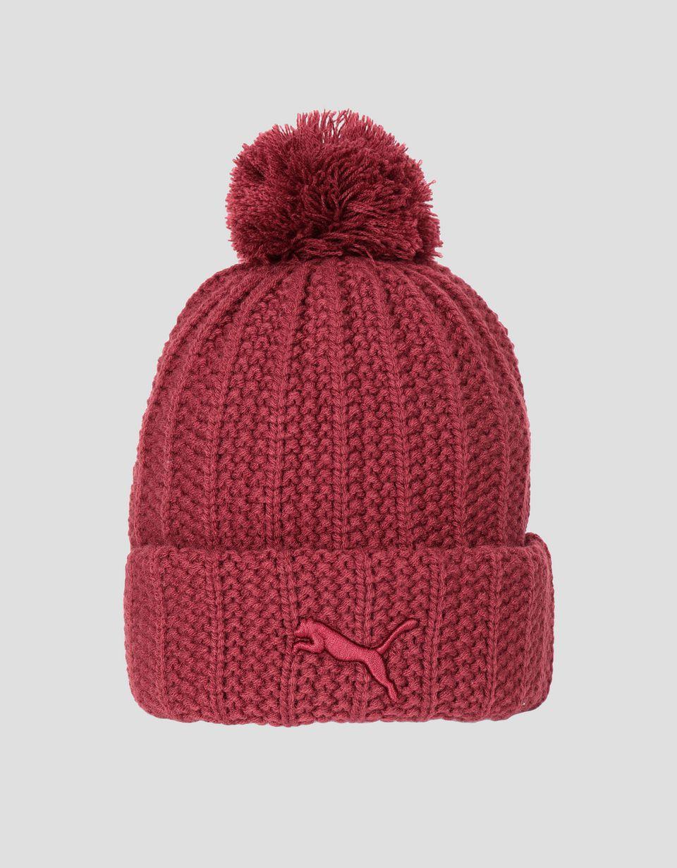 Scuderia Ferrari Online Store - Puma Scuderia Ferrari knit cap with pompom - Beanie Hats