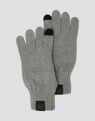 Scuderia Ferrari Online Store - Puma Scuderia Ferrari knit gloves with non-slip inserts - Regular Gloves