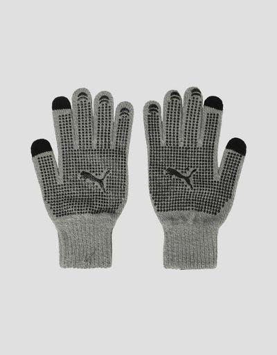 Puma Scuderia Ferrari knit gloves with non-slip inserts