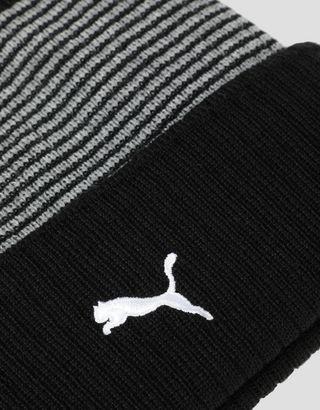 Scuderia Ferrari Online Store - Puma Scuderia Ferrari knit beanie with turn-up - Beanie Hats