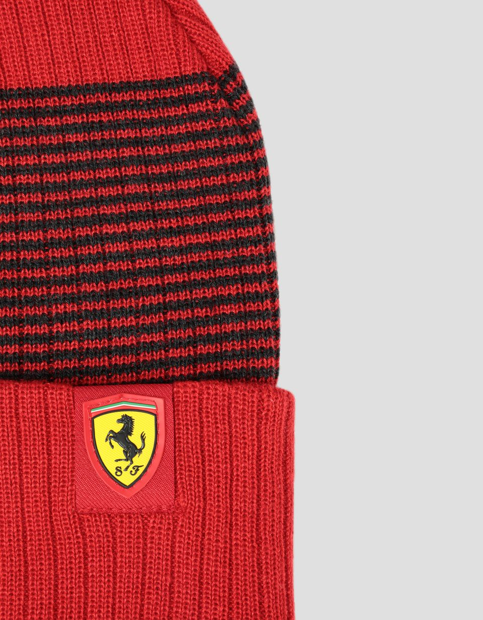 Scuderia Ferrari Online Store - Puma Scuderia Ferrari knit cap with folded edge - Beanie Hats