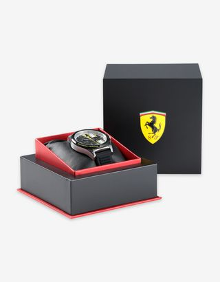 Scuderia Ferrari Online Store - Pilota chronograph watch with yellow details - Chrono Watches
