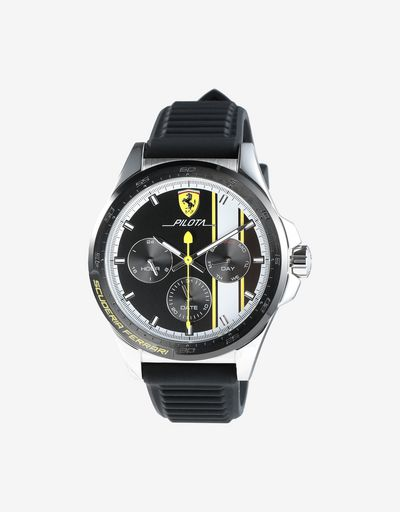 Pilota chronograph watch with yellow details