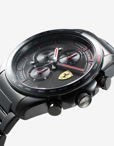 Orologio cronografo Speedracer in acciaio con bracciale nero