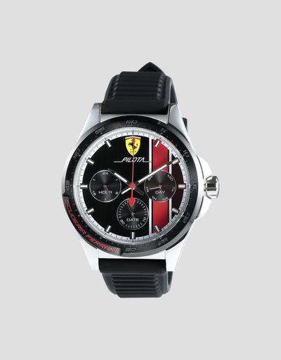 Pilota chronograph watch with red details