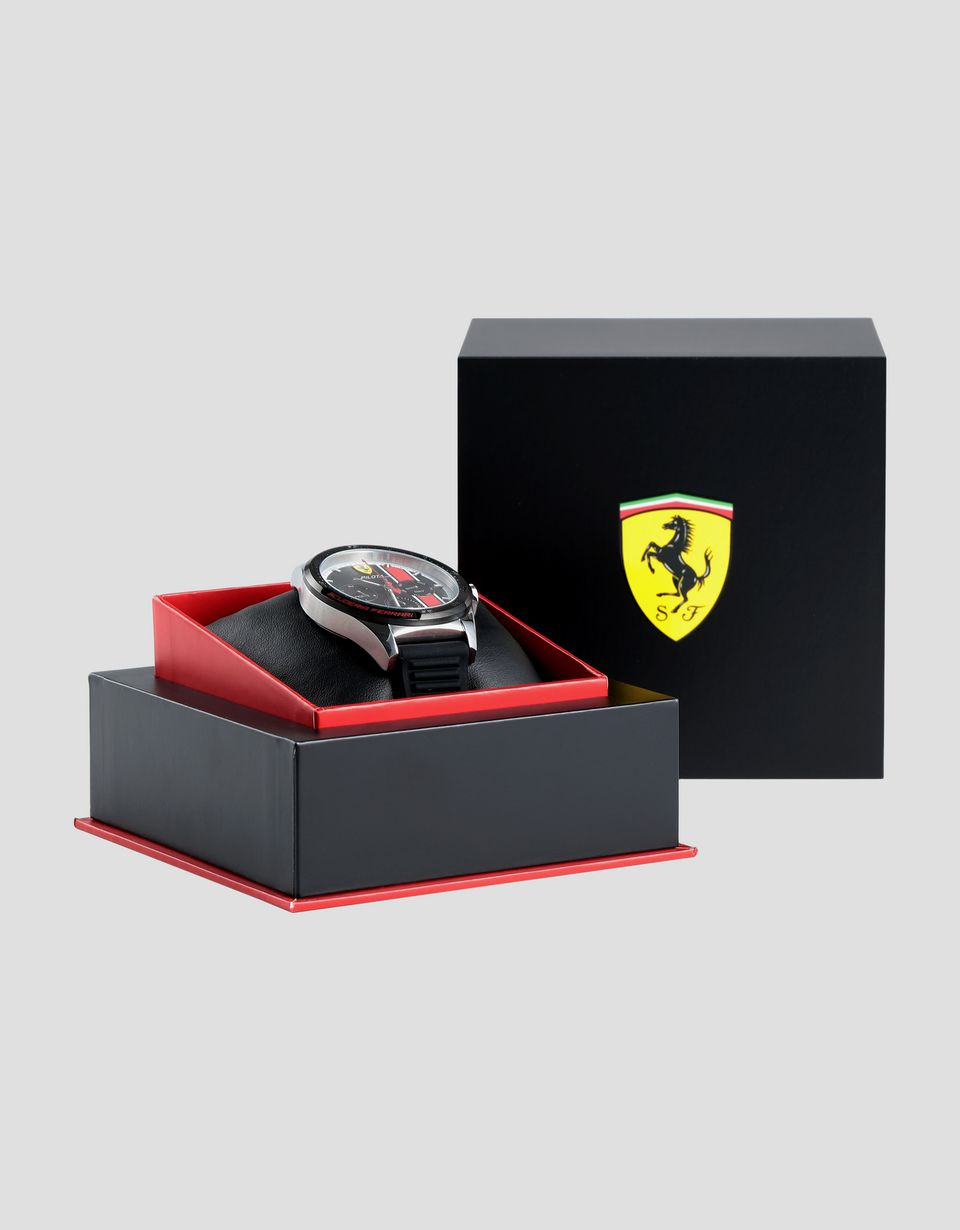 Scuderia Ferrari Online Store - Pilota chronograph watch with red details - Chrono Watches