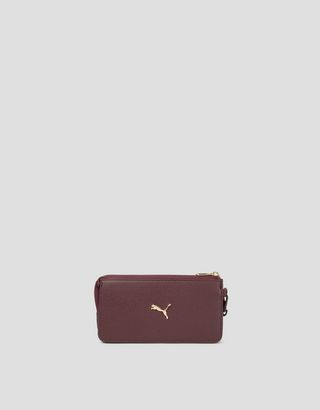 Scuderia Ferrari Online Store - Puma Scuderia Ferrari women's wallet with detachable strap - Horizontal with coin Wallets