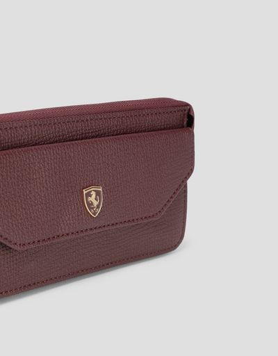 Scuderia Ferrari Online Store - Puma Scuderia Ferrari women's wallet with removable strap - Horizontal with coin Wallets