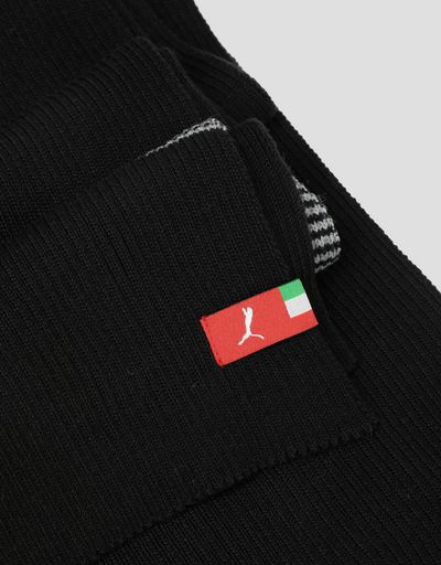 Scuderia Ferrari Online Store - Puma Scuderia Ferrari knit scarf with contrasting stripes - Scarves