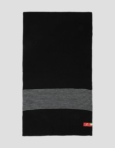 Puma Scuderia Ferrari knit scarf with contrasting stripes