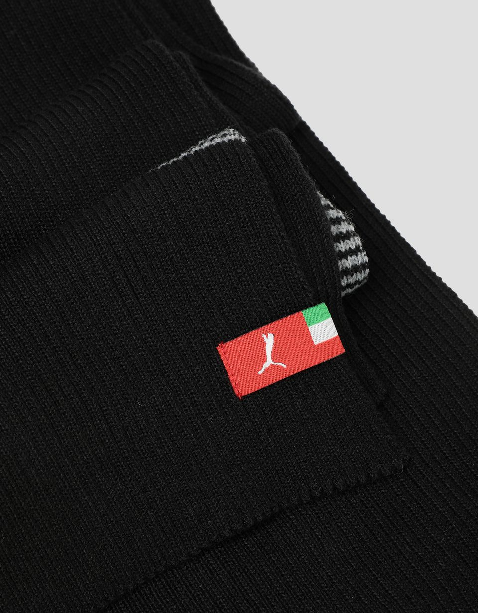 Scuderia Ferrari Online Store - Puma Scuderia Ferrari knit scarf with contrasting bands - Scarves