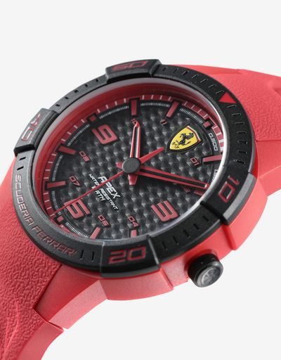 Red Apex quartz watch with small dial