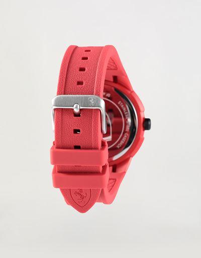 Scuderia Ferrari Online Store - Reloj de cuarzo Apex con correa de silicona roja - Relojes de cuarzo