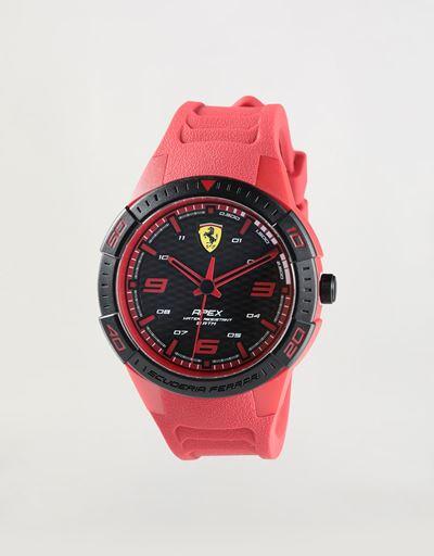 Apex quartz watch with red silicone strap
