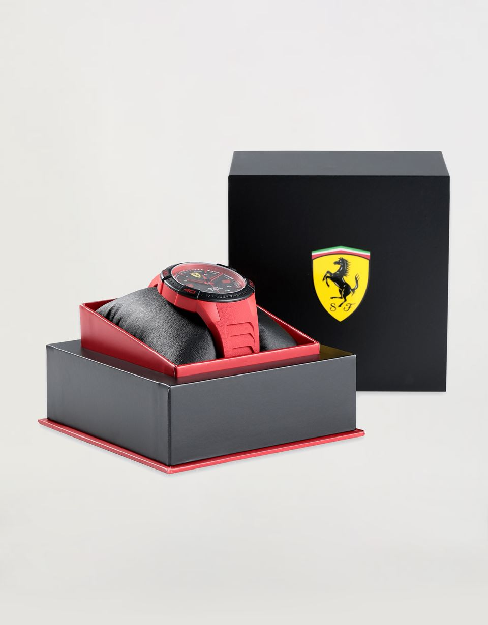 Scuderia Ferrari Online Store - Apex quartz watch with red silicone strap - Quartz Watches