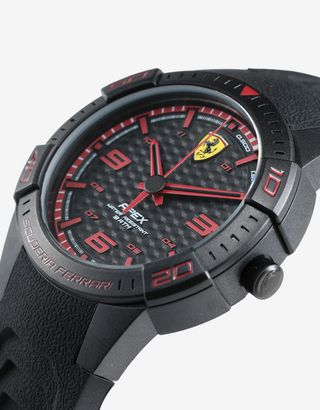 Scuderia Ferrari Online Store - Black Apex quartz watch with small dial - Quartz Watches