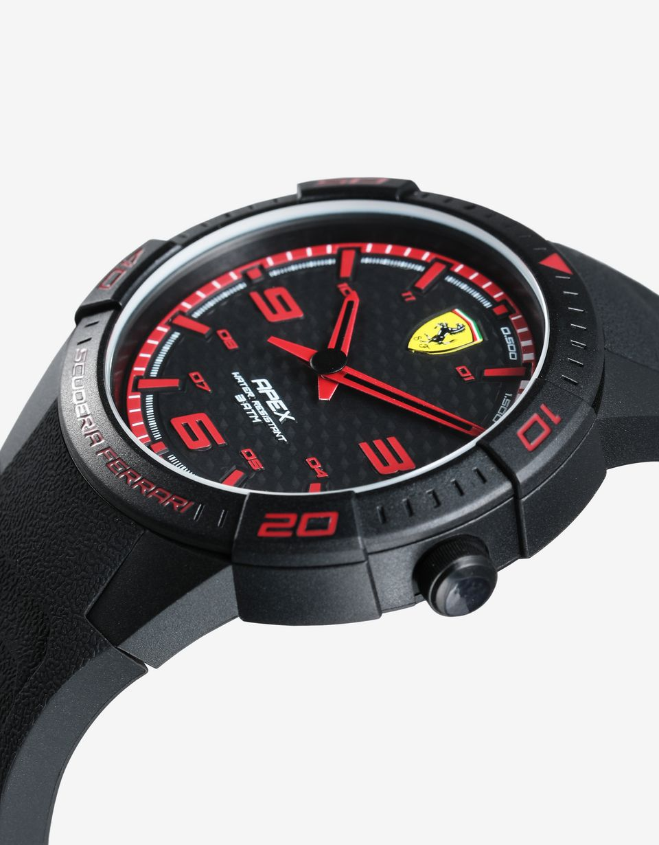 Scuderia Ferrari Online Store - Apex quartz watch with silicone strap and red details -