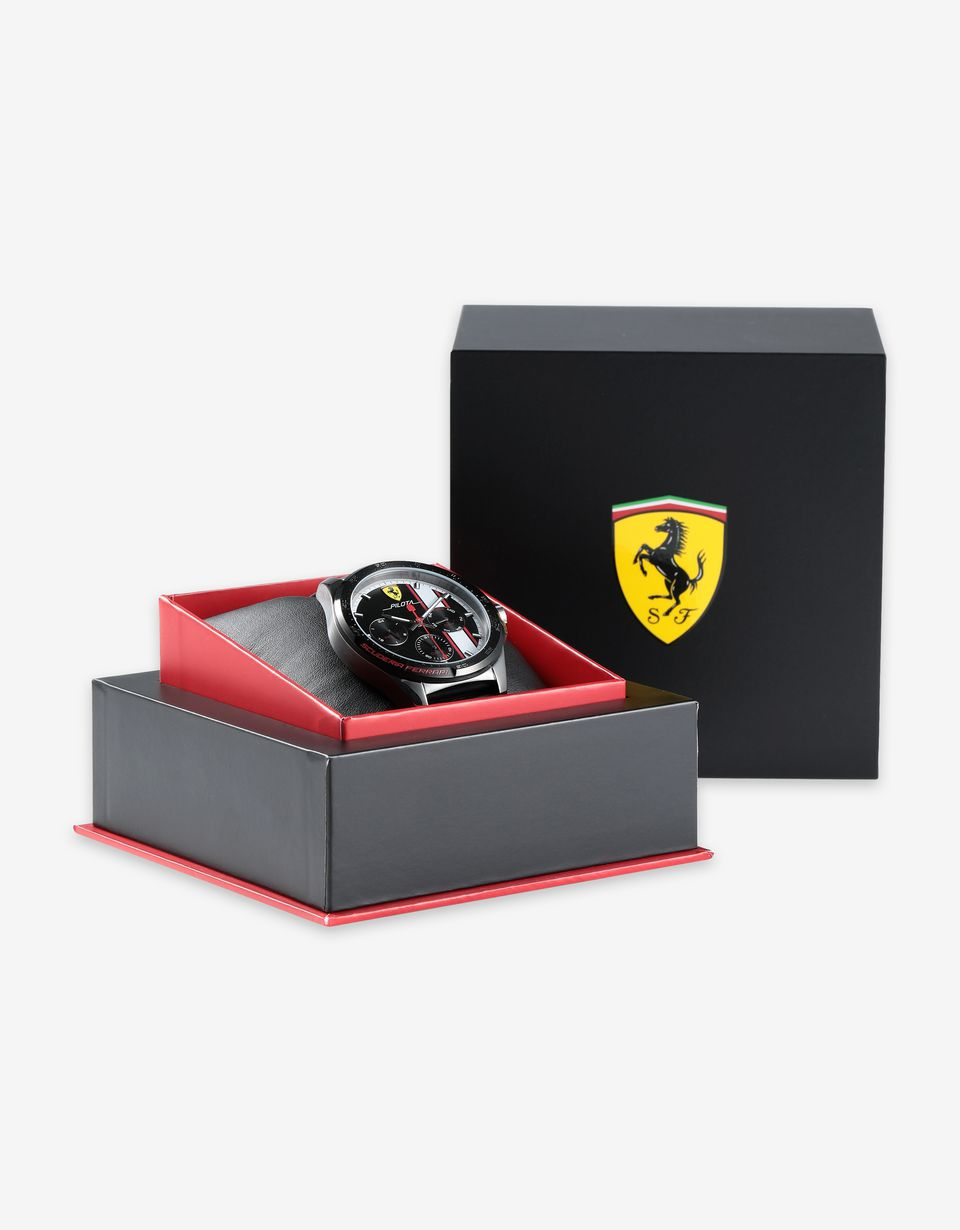 Scuderia Ferrari Online Store - Multi-function Pilota watch available exclusively in Ferrari Stores - Chrono Watches