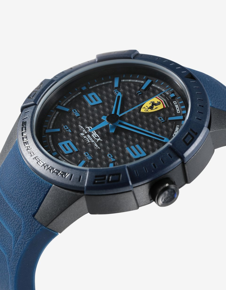 Scuderia Ferrari Online Store - Apex quartz watch with blue silicone strap - Chrono Watches