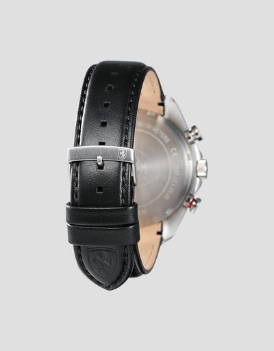 Scuderia Ferrari Online Store - Orologio cronografo Speedracer con cinturino in pelle traforata - Orologi Crono