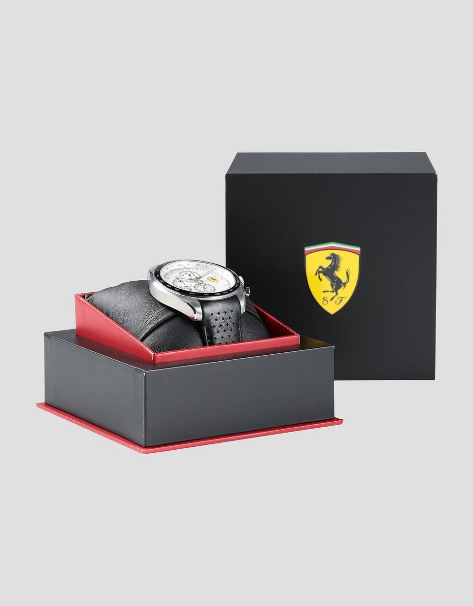 Scuderia Ferrari Online Store - Montre chronographe Speedracer avec bracelet en cuir ajouré - Montres chrono