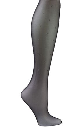 WOLFORD Adeline studded mesh socks