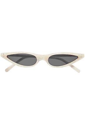 GEORGE KEBURIA Cat-eye marbled acetate sunglasses