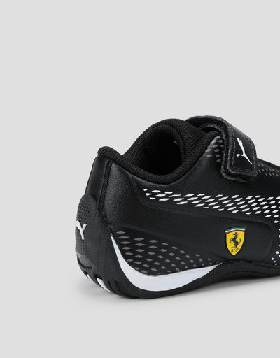 Scuderia Ferrari Online Store - Puma Scuderia Ferrari Drift Cat 5 Ultra II kids sneakers with Velcro fastening - Active Sport Shoes