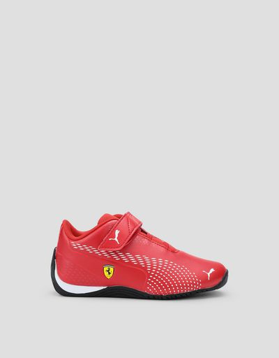 Puma Scuderia Ferrari Drift Cat 5 Ultra II kids sneakers with Velcro fastening