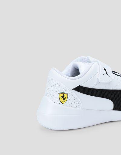 Scuderia Ferrari Online Store - Puma Scuderia Ferrari Kart Cat III kids sneakers with Velcro fastening - Active Sport Shoes