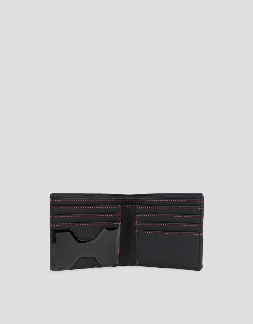 Scuderia Ferrari Online Store - Puma Scuderia Ferrari Wallet with metal Ferrari Shield - Horizontal Wallets