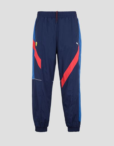 Scuderia Ferrari Online Store - Puma Scuderia Ferrari men's pants in perforated fabric - Chinos