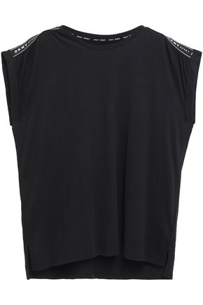 DKNY Cotton and modal-blend jersey top