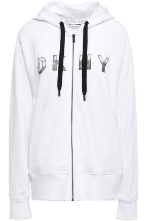 DKNY Printed cotton-blend hoodie