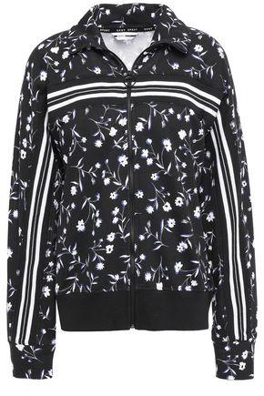 DKNY Printed cotton-blend jacket