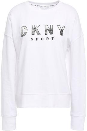 DKNY Cotton-blend jersey sweatshirt