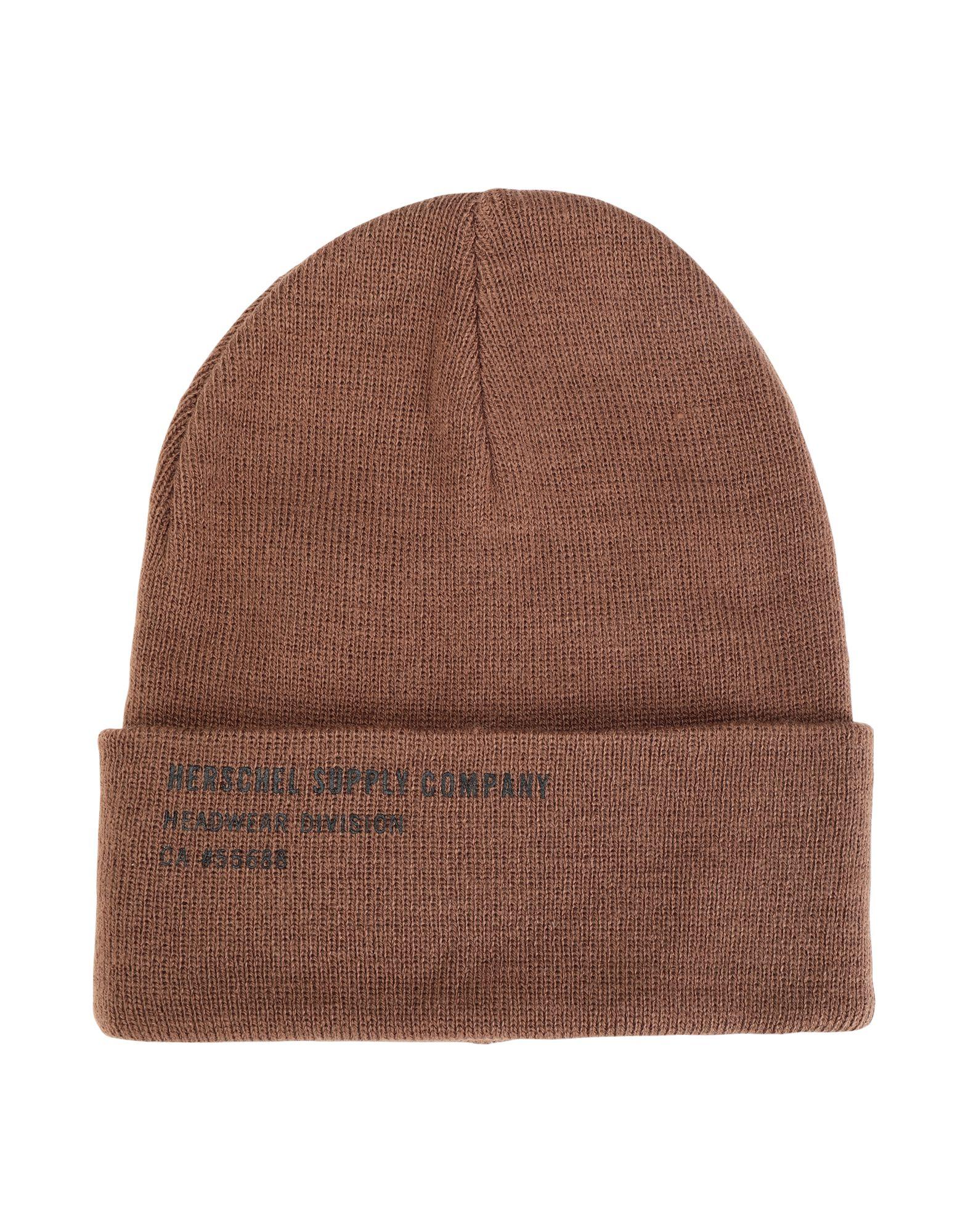 《セール開催中》HERSCHEL SUPPLY CO. Unisex 帽子 カーキ one size アクリル 100% ELMER PRINT