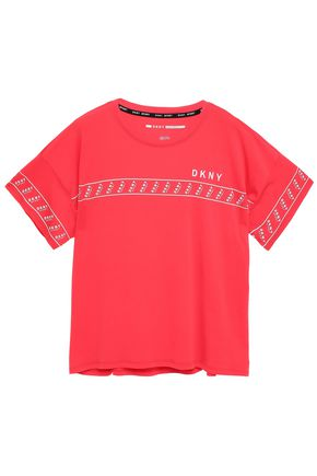 DKNY Mélange stretch-cotton and modal-blend jersey T-shirt
