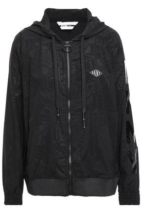 DKNY Appliquéd scuba hooded track jacket