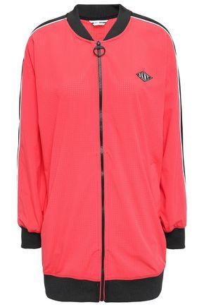 DKNY Appliquéd perforated scuba track jacket