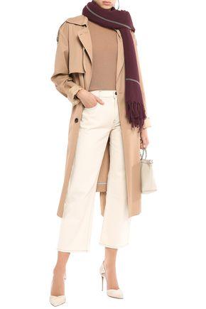 BRUNELLO CUCINELLI Bead-embellished cashmere scarf