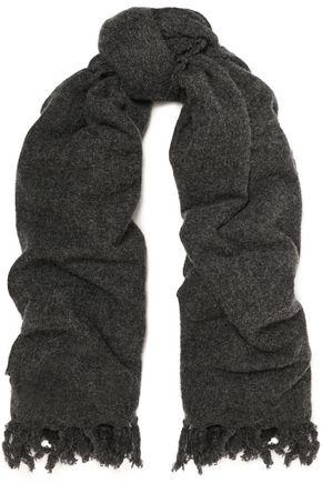 BRUNELLO CUCINELLI フリンジ付き カシミヤ スカーフ
