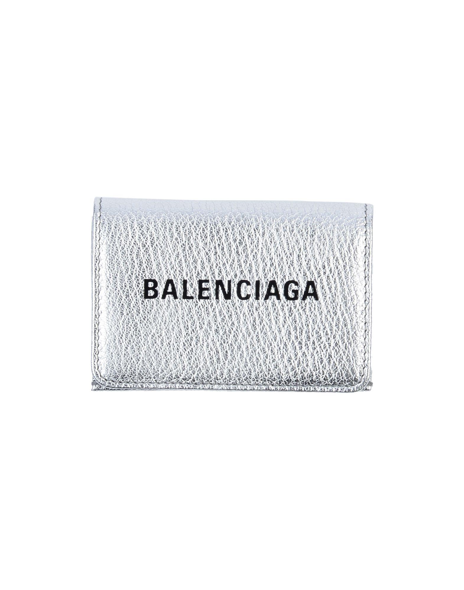 《期間限定セール開催中!》BALENCIAGA メンズ 財布 シルバー 革