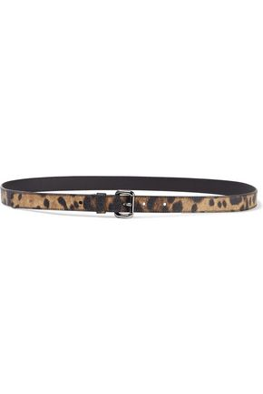 DOLCE & GABBANA Leopard-print faux textured-leather belt