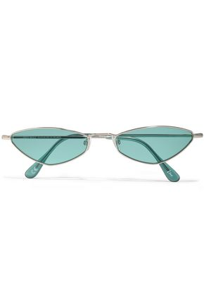 ANDY WOLF Eliza oval-frame metal sunglasses