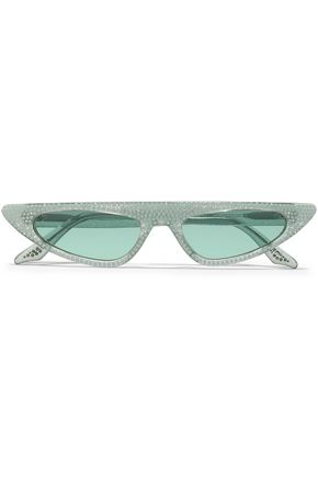 ANDY WOLF Florence crystal-embellished cat-eye acetate sunglasses