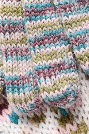 MISSONI Marled intarsia cashmere-blend gloves
